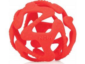Nuby Kousátko silikonová míč červená 3m+