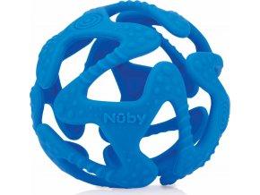 Nuby Kousátko silikonová míč tmavě modrá 3m+