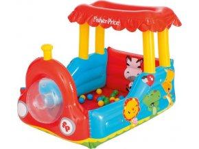 Dětský nafukovací vláček Fisher-Price s míčky