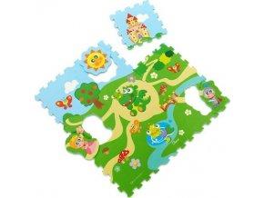Chicco Hračka puzzle pěnové Hrad 30x30cm 9ks