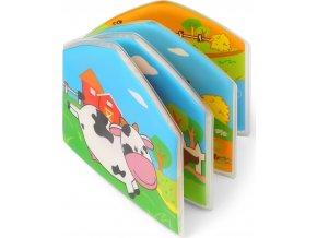 BabyOno Mini knížka do vody, pískací - Domácí zvířátka