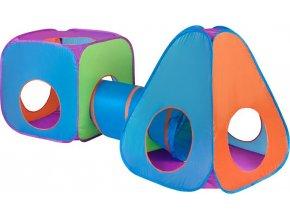 Dětský stan PlayTo 3v1 oranžovo-modrý