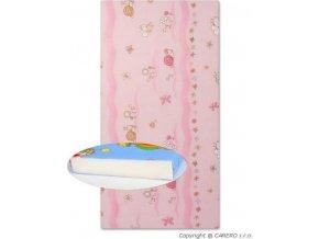 Dětská pěnová matrace růžová - různé obrázky