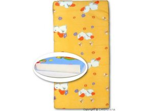 Dětská pěnová matrace oranžová - různé obrázky