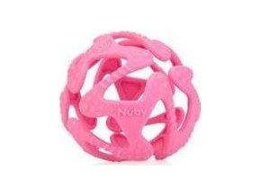 Nuby Kousátko silikonová míč růžová 3m+