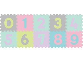 BabyOno Puzzle pěnové čísla 10 ks, 6m+