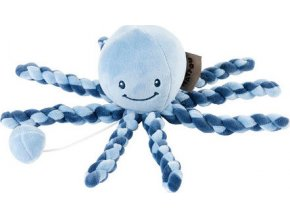 Nattou První hračka miminka hrající chobotnička PIU PIU Lapidou navy blue - light blue 0m +