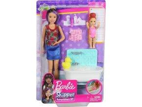 Barbie Chůva herní set v koupelně