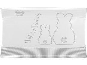 Brevi Podložka přebalovací CONFORT měkká - bílý králíček 45 x 78 cm