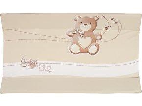 Brevi Podložka přebalovací CONFORT měkká - medvídek béžový 45 x 78 cm