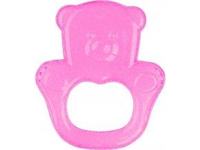 BabyOno Kousátko chladící medvěd - růžová