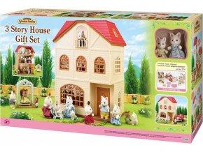 Sylvanian Families 2737 Dárkový set - Třípatrový dům s figurkami a příslušenstvím