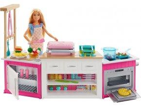 Barbie Kuchyně snů herní set s panenkou