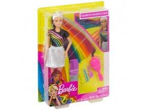 Barbie s duhovymi vlasy panenka barbie