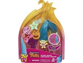 TROLLS Malá postavička s extra dlouhými vlasy Tiny Smidge