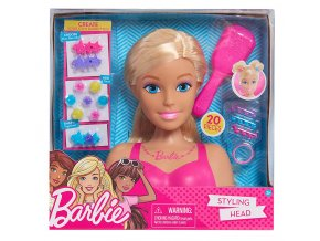 Barbie cesaci hlava s doplnky