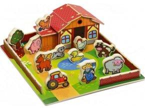 Domeček dřevěná farma Moje první zvířátka