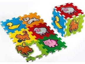 Pěnové puzzle Moje první zvířátka 15x15cm