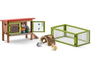 Schleich 42420 Set králíkárna se zvířátky a příslušenstvím