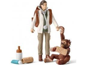 Schleich 42353 Veterinářka s opicí