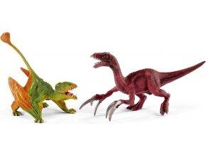 Schleich 41425 Dimorphodon a Therizinosaurus malé figurky