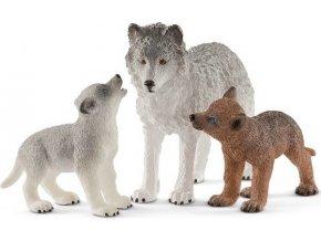 Schleich 42472 Vlčice a mláďata vlka
