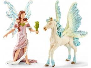Schleich 70539 Elfí víla Safenja s koněm