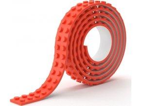 Lepící páska kostičky červená