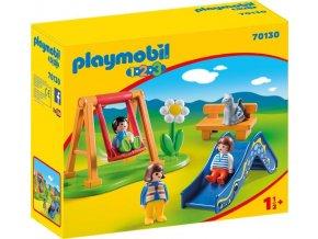 PLAYMOBIL 70130 Dětské hřiště (1.2.3)