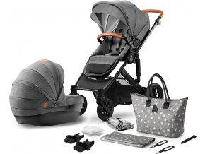 Kinderkraft kočárek kombinovaný Prime 2v1 2020 šedý