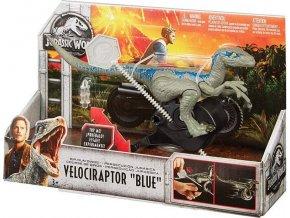 Jurský svět Velociraptor s natahovacím lankem