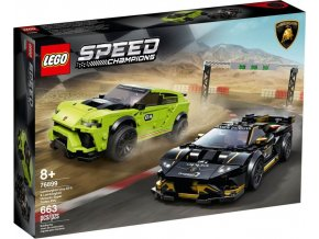 LEGO Speed Champions 76899 Lamborghini Urus ST-X & Lamborghini HuracánSuper Trofeo EVO