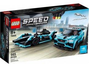 LEGO Speed Champions 76898 Formula E Panasonic Jaguar Racing GEN2 & Jaguar I-PACE eTROPHY