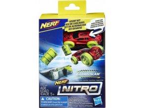 NERF Nitro náhradní autíčko a překážka Barrelslam