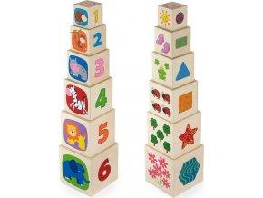 Dřevěná pyramida pro děti Viga