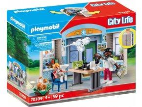 playmobil 70309 city live hraci box u veterinare 01