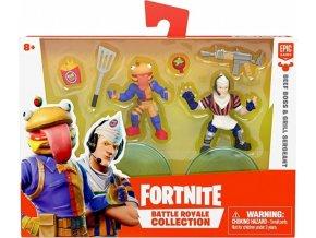 Fortnite Battle Royal sada sběratelských figurek Beef Boss a Grill Sergeant, 5 cm