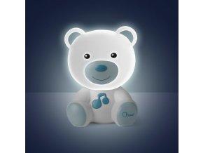 Chicco Noční světélko hudební Medvídek modré