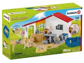 Schleich 42502 veterinarni ordinace pro domaci zvirata
