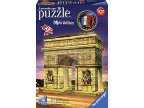 3D Puzzle Vítězný oblouk, Noční edice, 216d.