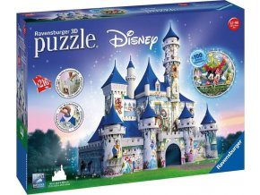 3D Puzzle Disney zámek 216 dílků, Ravensburger