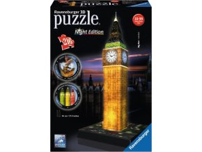 3D Puzzle Big Ben Noční Edice 216d. Ravensburger