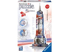 Puzzle 3D Empire State Building vlajková edice 216 dílků