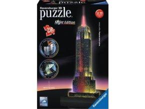 Ravensburger 3D puzzle Empire State Building Noční LED 216 dílků