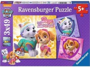 Puzzle Tlapková Patrola 3x49 dílků, Ravensburger