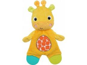 Bright Starts Hračka - kousátko Snuggle&Teethe žirafa 0m+