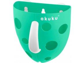 Plastový box na hračky do vany Akuku mátový