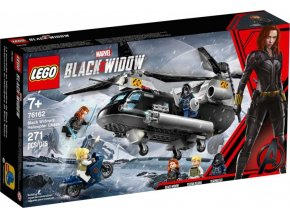 LEGO Super Heroes 76162 Black Widow a honička ve vrtulníku