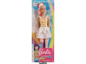 Barbie dreamtopia vila s ruzovymi vlasy 1