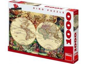 Puzzle Historická mapa světa 1000 dílků